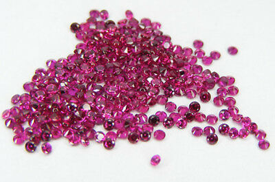 50 Pcs. Machine Cut 1,7 Mm. Rubis Sang De Pigeon De Synthese