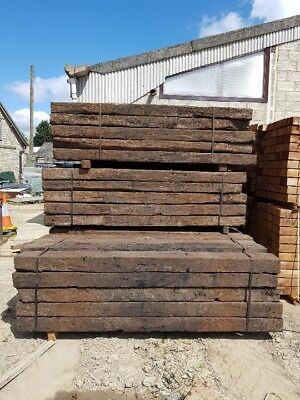 RECLAIMED RAILWAY SLEEPER TYPE A 150mmx250mmx2600mm Del Scotland Only
