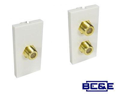 Chargeline Satellite F connector Single or Twin  Double Wall Module Faceplate
