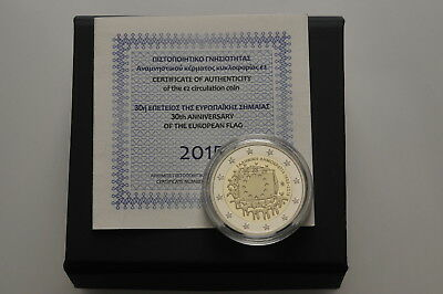 LANZ Griechenland 2 Euro 2015 30 Jahre Europaflagge PP Proof #WV21559