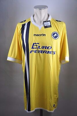 Millwall FC Away Trikot Gr. 3XL UK XXL14-15 Macron Euro Ferries Football Jersey
