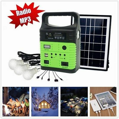 Portable Solar Generator Rechargeable Battery Power Supply Camping Emergency New