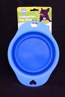 Collapsible PET BOWL COLLAPSIBLE HANDY FOR CAR AND OUT & ABOUT FREE POST