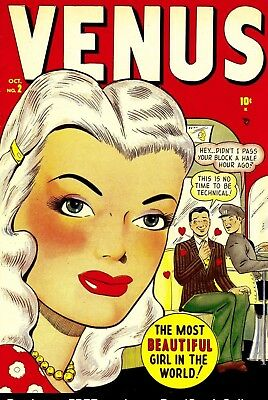 Venus #2 (1948) Photocopy Comic Book - Atlas Comics