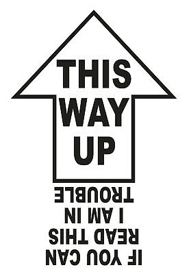This Way Up If You Can Read This I Am In Trouble Self Adhesive Vinyl Car Sticker