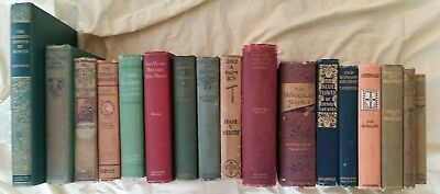 Lot of 17 Old Antique books, Late 1800's early 1900' s.