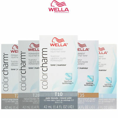Wella Color Charm Permanent Liquid Hair Toner T10,t11,t14,t15,t18,t27,t28,t35
