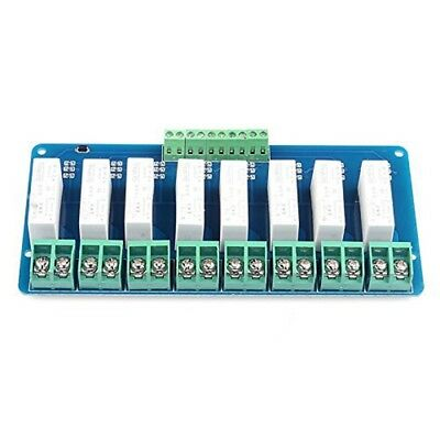 T8 8-CH SSR 5A DC-DC 5V-220V Solid State Relay R