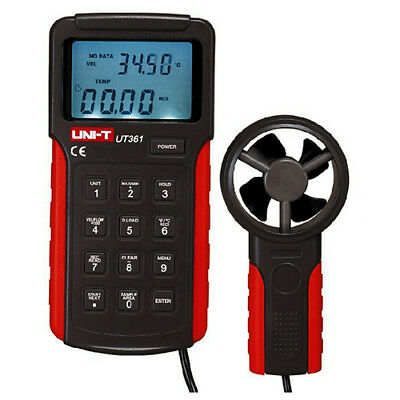 T8 UNI-T 1 set UT361 Digital Anemometers Wind Speed Gauge Meters Air Flow D