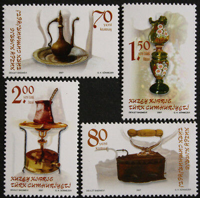 Cyprus, Turkish Cypriot Posts 2007 Antique Household Utensils SG647/50 MNH/UM