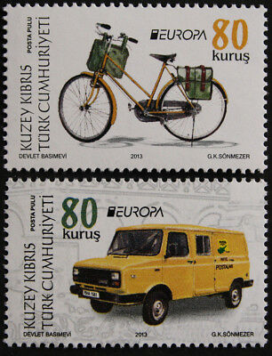 Cyprus, Turkish Cypriot Posts 2013 Europa Postal Vehicles SG759/60 MNH/UM