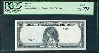 "American Bank Note Co. ""Series 1929"" Specimen PCGS 66 PPQ"