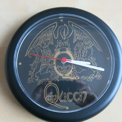 QUEEN / FREDDIE MERCURY Rare vintage battery operated wall clock 1980s