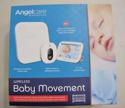 "Angelcare Baby Movement Monitor 5"" Touchscreen Display Wireless Sensor Ac517"