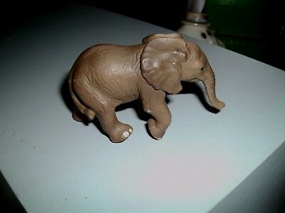 Schleich Gray Elephant Calf Figure , 2 INCHES TALL