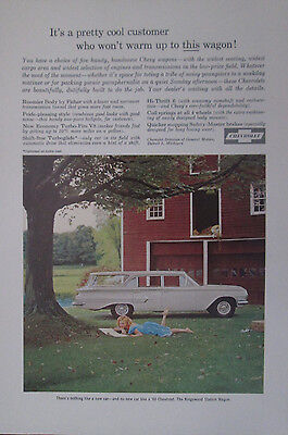 Chevrolet 1960 Kinsgwood Station Wagon Original Vintage Print Ad