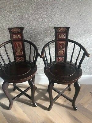 pair of matching Chinese ladies chairs