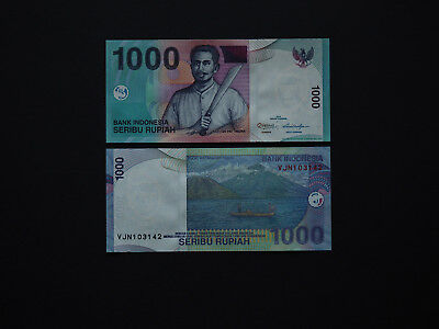 Indonesia Banknotes Boldly printed 1000 Rupiah Date  2013  Good Value   MINT UNC