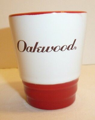 Red and White Ceramic Shot Glass - Oakwood - M Ware