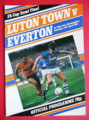 1984/1985 Luton Town v Everton - FA CUP SEMI-FINAL - 13/04/1985