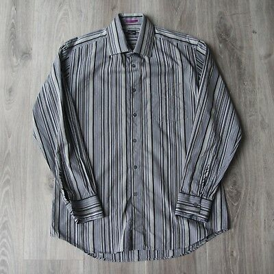 Vintage Mens Paul Smith London Striped Long Sleeve Shirt XL Made In Italy Jeans