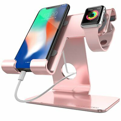 ZVE Universal 2 in 1 Phone Stand, ZVE Aluminum Apple Iwatch Charging Stands
