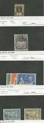 St. Helena, Postage Stamp, #73, 79, 115-7, 123-123A Used, 1913-40