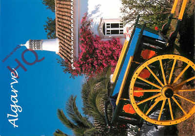 Picture Postcard:;Algarve, Cart With Flowers And Chimney
