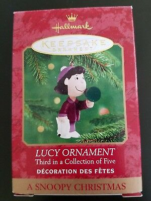 Lucy Ornament A Snoopy Christmas Third in series Hallmark Keepsake Ornament NR