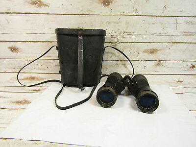 Vintage Bausch & Lomb WWII US Navy Binoculars 7x50 MARK 29 Mod 1 With case