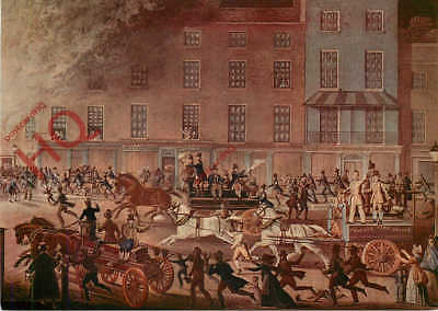 Picture Postcard; LONDON FIRE ENGINES, C.1825