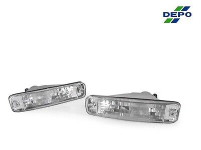 DEPO JDM Pair of Clear Front Bumper Signal Lights for 1990-1991 Acura Integra