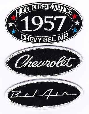 1957 Chevy Bel Air Sew/iron On Patch Badge Emblem Embroidered Hot Rod Muscle Car