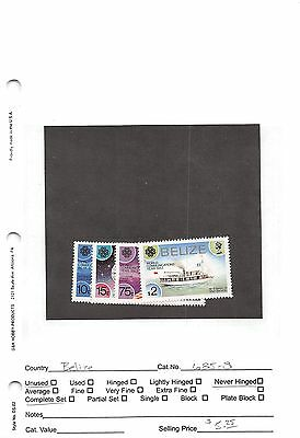 Lot of 37 Belize MNH Mint Never Hinged Stamps #98602 X R