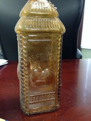 Phil Berring's Apple Bitters Amber Antique Bottle Good Condition