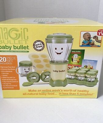 Magic Bullet Baby Bullet Complete Baby Food Making System New!