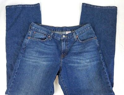 """NWT LUCKY BRAND DUNGAREES Woman's Blue Denim Jeans SZ 12 32"""" x 32"""" Classic Fit"""