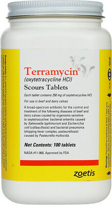 Terramycin Scours Tablets 100 ct
