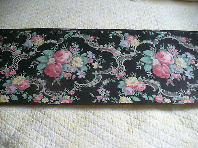 Classic Antique Victorian Wallpaper Border Roll Gorgeous Lattice and Roses USA