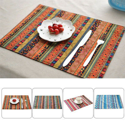 40*30cm Placemat Cotton Linen Dining Room Table Mat Heat Insulation Pad Kitchen
