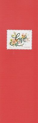Love Forever #1 - US Postage Stamp on decorative paper, laminated bookmark
