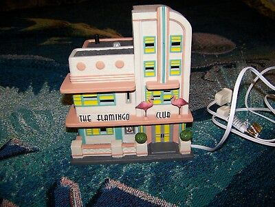 THE FLAMINGO CLUB Christmas In The City Series Department 56 Ceramic Collectible
