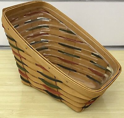 Longaberger Woven Traditions Small Vegetable Basket 1999 and Protector