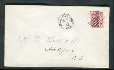 1903 Grindstone Island Magdalen Is Quebec Cancel on KEVII Cover to Halifax NS
