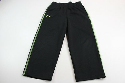 YOUTH Under Armour Black Lime Track Pants YOUTH Sz 4