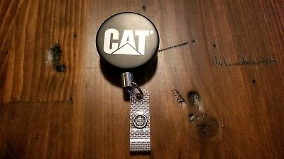 Caterpillar Tractor retractable key ring/name badge holder.
