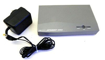 HP JetDirect 300X Print Server Fast Ethernet 10/100 (J3263A) w/ AC Adapter