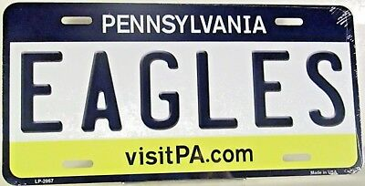 Novelty license plate EAGLES Philadelphia PA background Aluminum auto  LP-2057