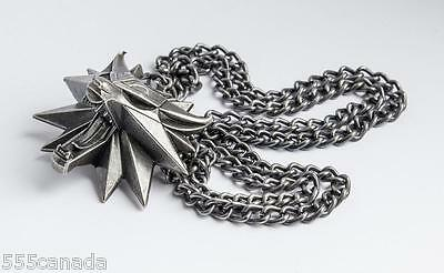 The Witcher 3 III Wild Hunt Wolf Medallion - Geralt of Rivias Necklace NEW 4 A