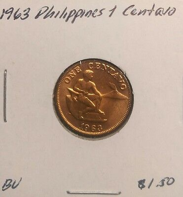 Philippines Centavo, 1963, Brilliant Uncirculated World Coin